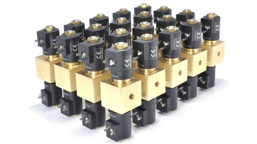 VCT 100 bar solenoid valve twin coil block and bleed