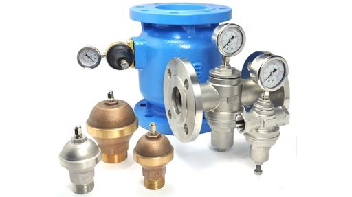Pressure reducing, pressure relief, pressure sustaining, hammer arrestors