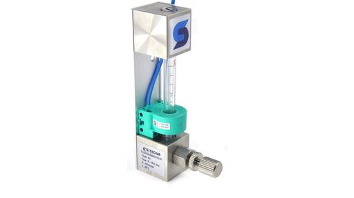 glass tube variable area flow meter