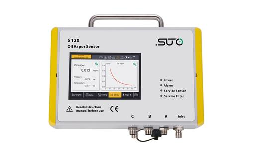 S 120 PID sensor to detect oil vapour in compressed air or gas