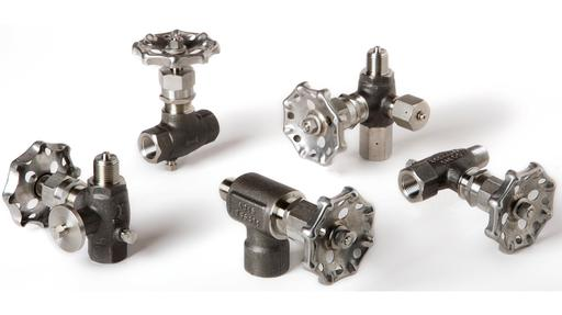 Boscarol needle valves for pressure gauge isolation