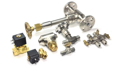 manual and solenoid operated cryogenic valves