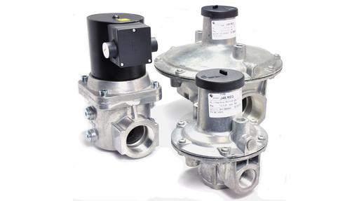 EN161 gas solenoid valves and gas governors