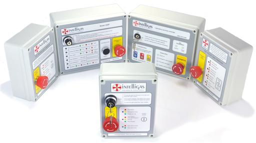 Gas safety control panels and interlocks