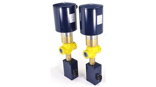 Uni Gerate EN161 gas solenoid valves with limit switches