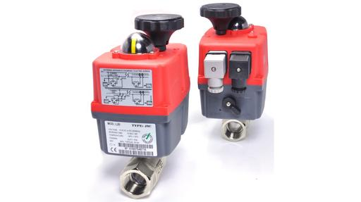 brass ball valves with J&J electric actuators