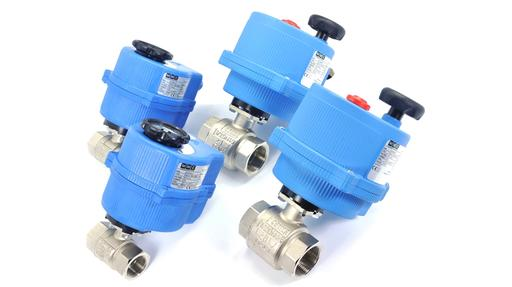 ball valves with electric actuators