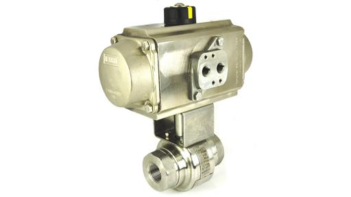 high pressure stainless steel ball valve with stainless steel pneumatic actuator