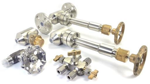 boscarol manual cryogenic valves for liquid nitrogen