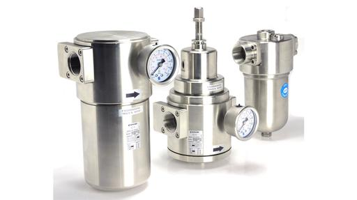 pneumatic filter, regulator and lubricator stainless steel ATEX