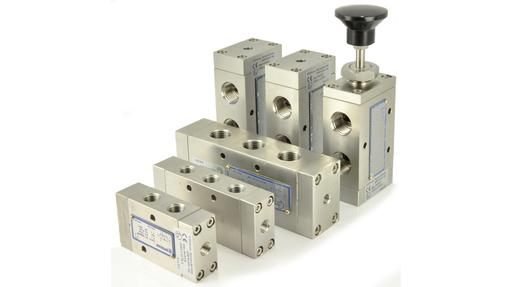 pilot operated and manual operated spool valves