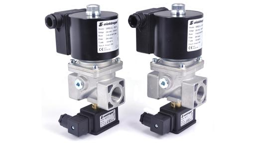 EN161 gas solenoid valves with CPI limit switch