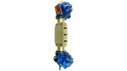 D17 series 5/3 double solenoid brass or stainless steel