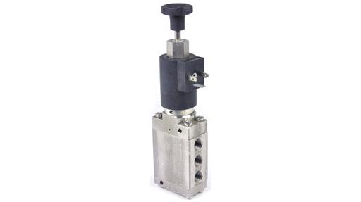 G53 series 5/2 solenoid valve energise to close