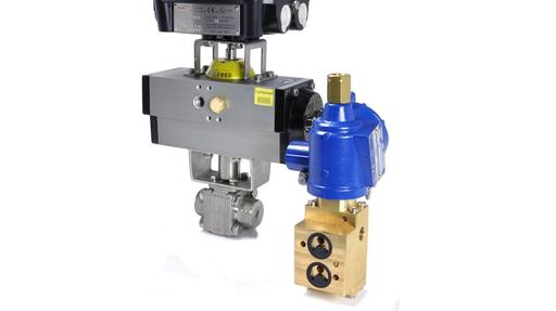 ATEX Exd D50 namur valve with high pressure ball valve, spring return actuator and Exd switchbox