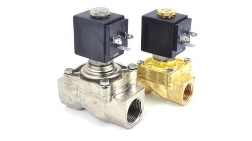 L04 Series Solenoid Valve Brass Nickel Plated Brass or Stainless Steel