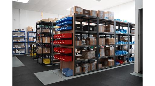 Extensive stock holding of components and completed products