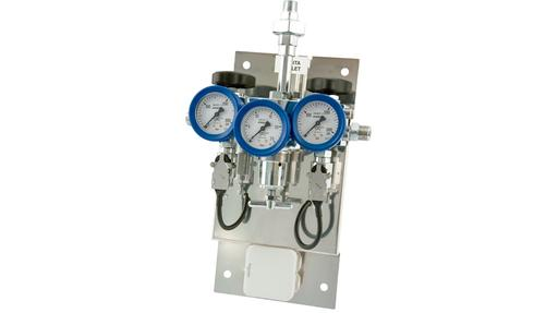 dual input gas regulator manifold